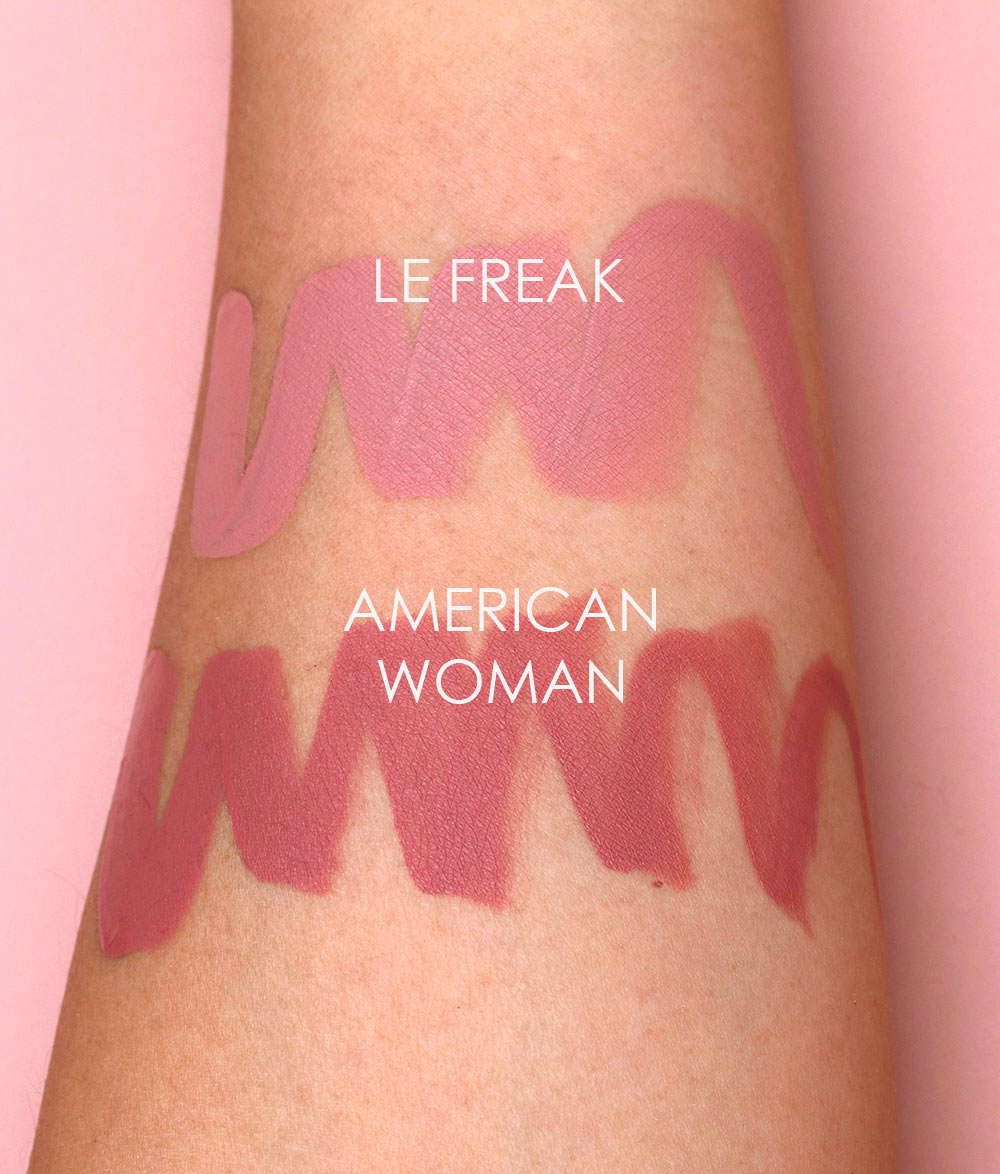 nars le freak american woman swatches 1