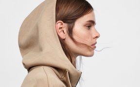 Zara Oversized Hooded Sweatshirt landscape cropped