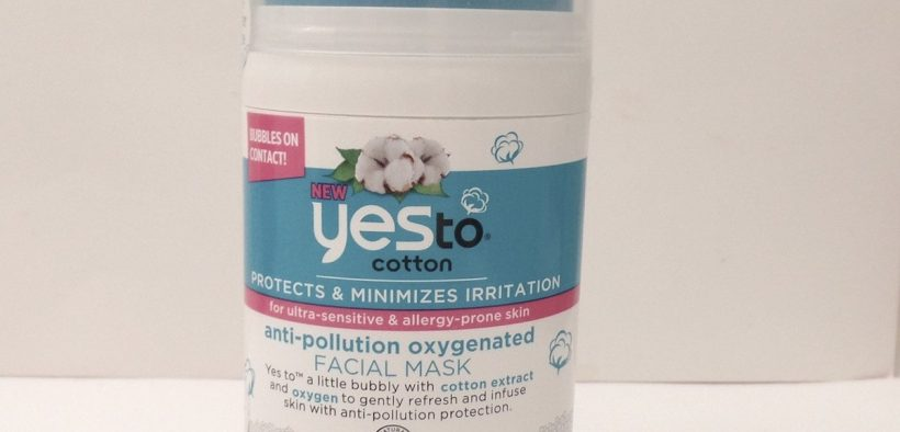 Yes To Cotton Anti Pollution Oxygenated Facial Mask Review