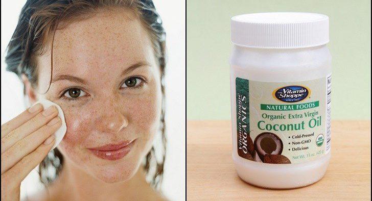 coconut oil on face