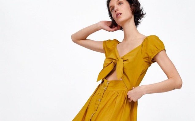 Zara Embroidered Dress With Openings landscape cropped