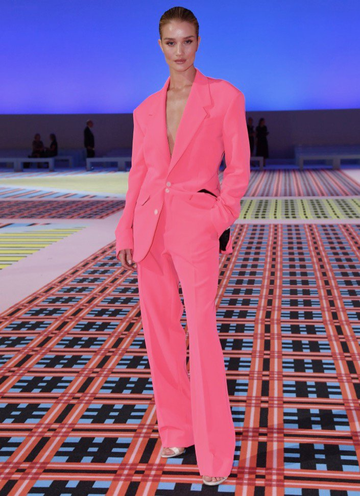 Rosie Huntington-Whiteley at Versace Spring 2019.