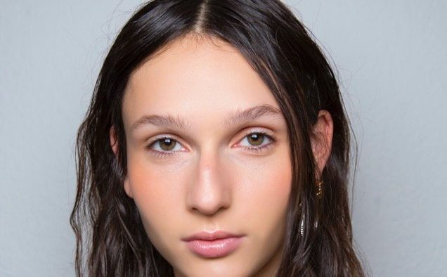 sportmax spring beauty natural makeup tousled hair landscape cropped