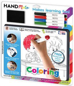 custom dry erase coloring drawing game