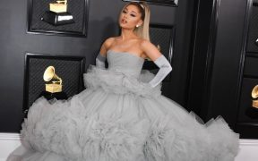 Ariana Grande Grammys Marquee landscape cropped