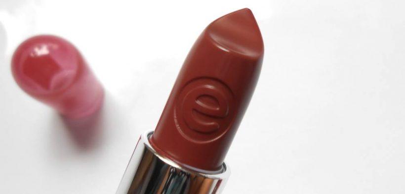 Essence Colour Up Shine On Lipstick Rosey Glitz Review