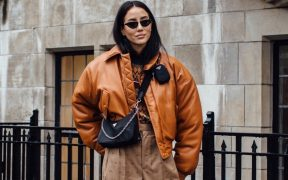 London Fashion Week Fall street style Marquee landscape cropped