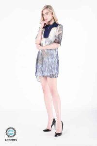 andemes casual multi colored dress with nature deep sea design